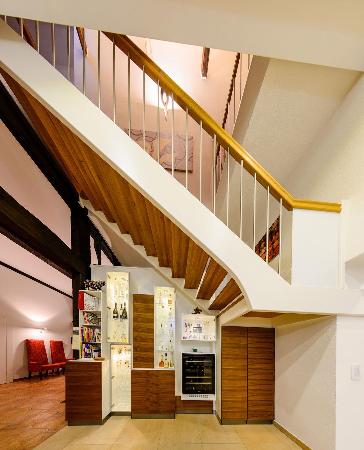 Tischlerei Hagemeier, Projekte, Referenz in Brockhagen, Möbel und Treppe
