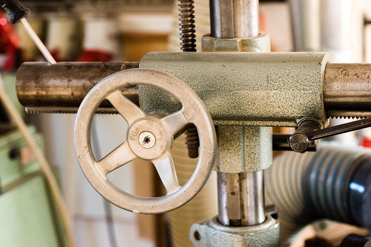 Tischler in Steinhagen, Brockhagen, Detail in der Werkstatt
