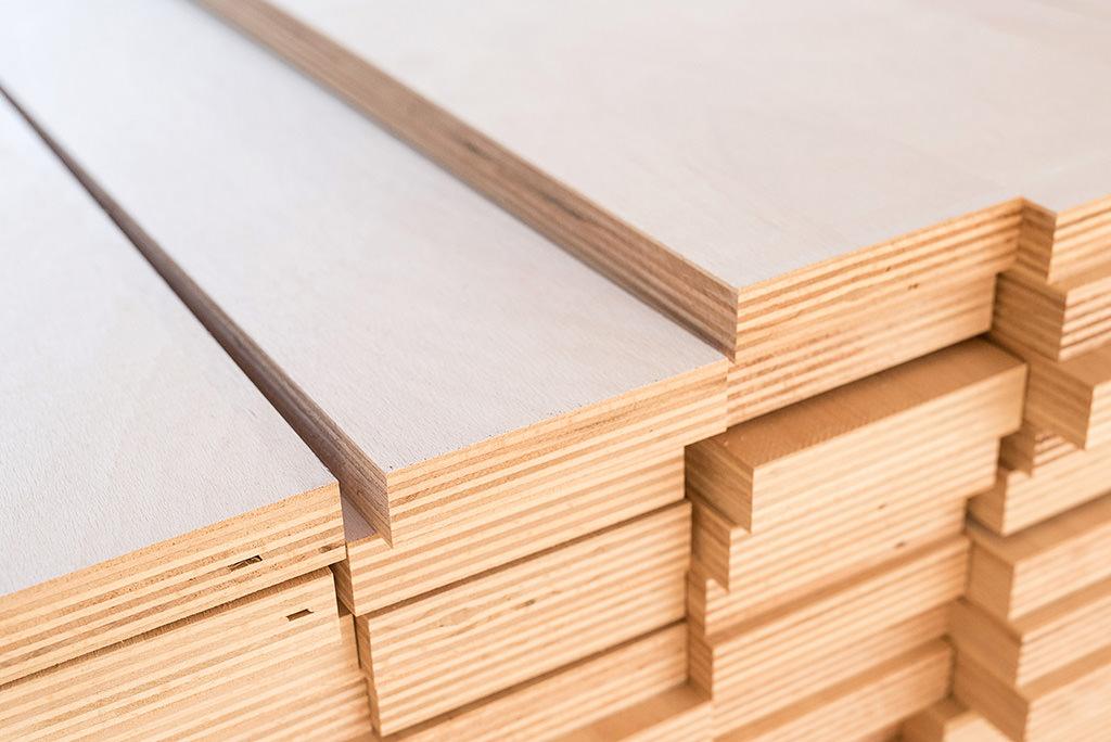 Tischler Hagemeier in Steinhagen, Detail mit Holzmaterialien
