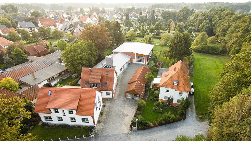 Tischlerei Hagemeier in Brockhagen, Luftaufnahme
